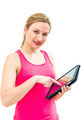 young woman using tablet PC - PhotoDune Item for Sale