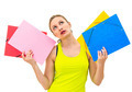 unhappy woman with folders - PhotoDune Item for Sale
