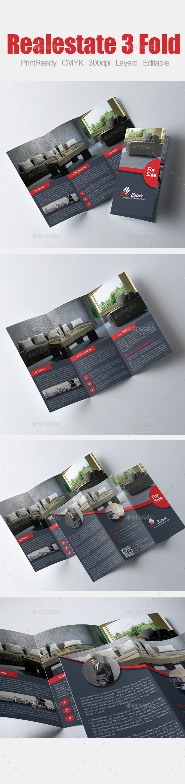 GraphicRiver Tri Fold Real Estate Brochure 9000900