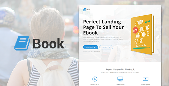 ThemeForest Book Responsive Ebook Landing Page 9000919