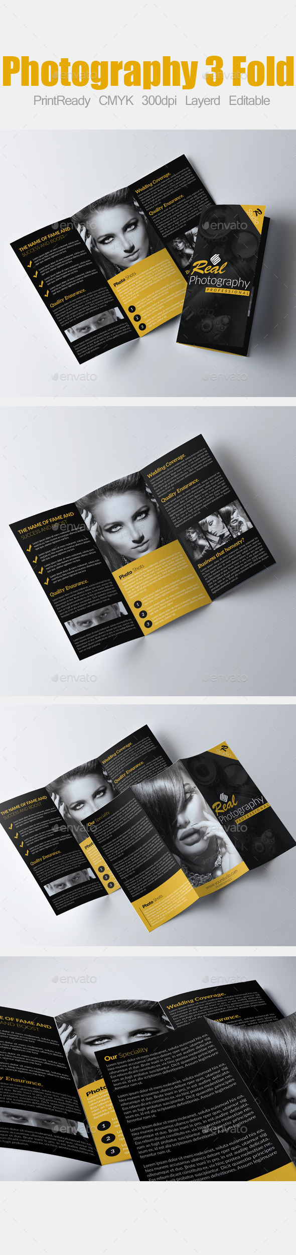 GraphicRiver Tri Fold Fashion and Photography Brochure 9000946