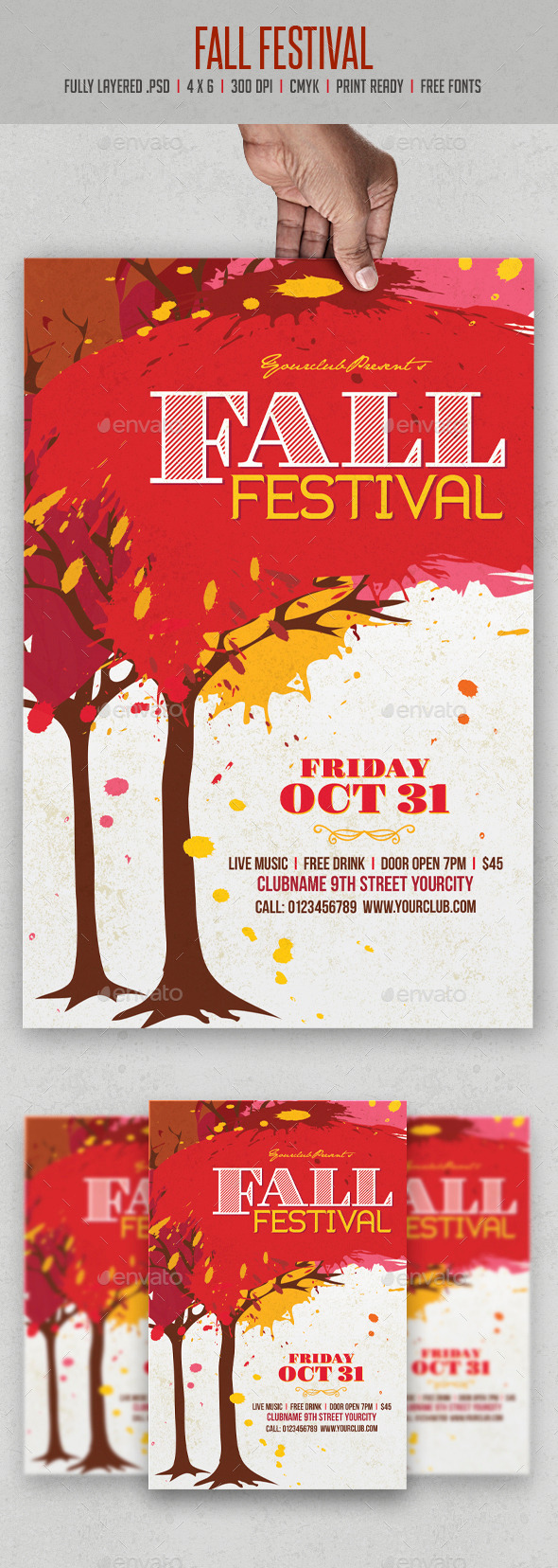 GraphicRiver Fall Festival Flyer 9000959