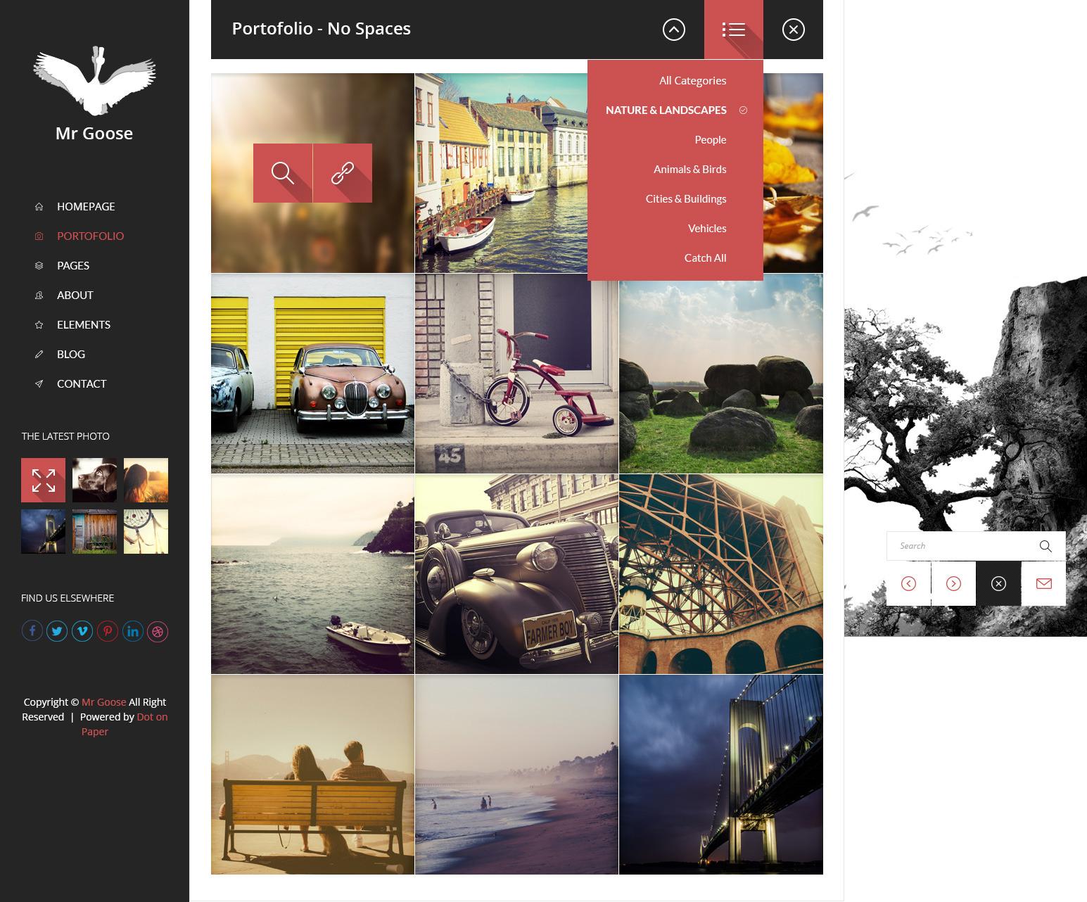 Mr Goose - Creative PSD Template - Desktop - Portofolio