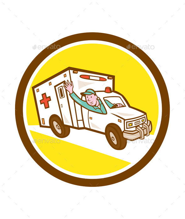 GraphicRiver Ambulance Emergency Vehicle Cart 9001122