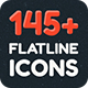 Flat Line Icon - GraphicRiver Item for Sale
