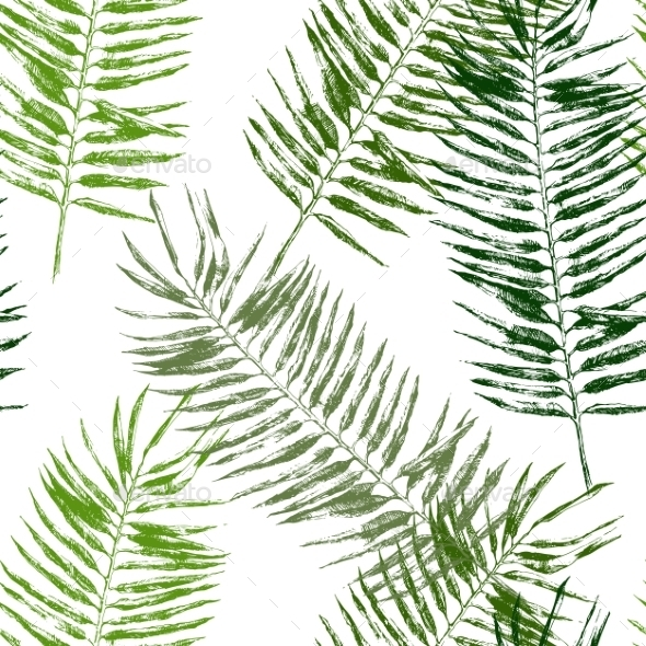 GraphicRiver Tropical Leaves Seamless 9001199