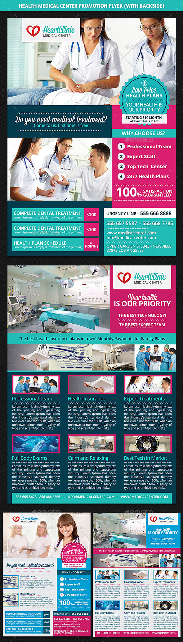 GraphicRiver Health Medical Center Promotion Flyer 8788351