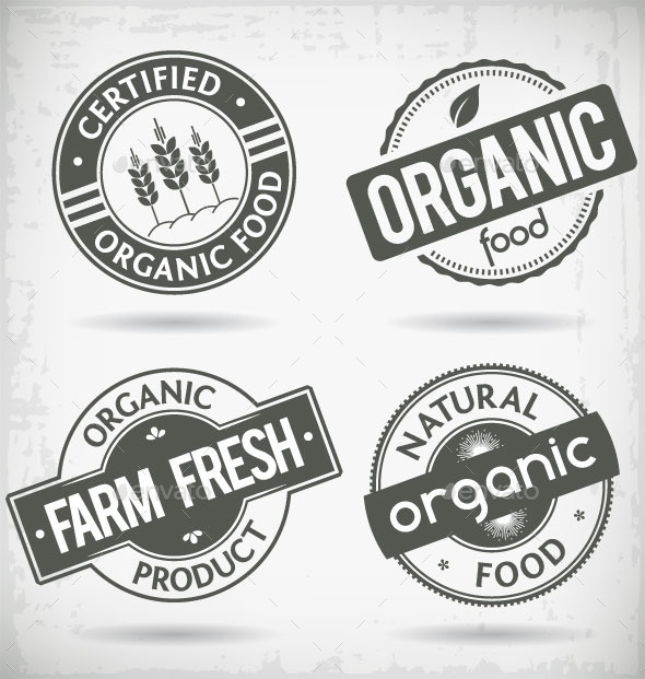 GraphicRiver Organic Food Labels 9001280