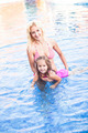 Mother and child at the swimming pool - PhotoDune Item for Sale