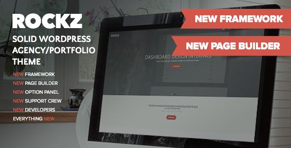 ThemeForest Rockz Solid Wordpress Agency Portfolio Theme 8987923