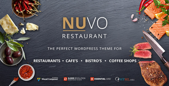 NUVO Restaurant Cafe & Bistro Wordpress Theme