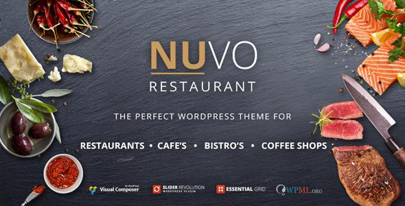 NUVO - Restaurant, Cafe & Bistro Wordpress Theme