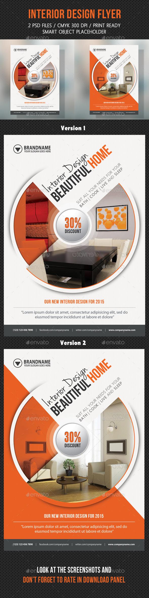 GraphicRiver Interior Design Flexible Flyer 9001439