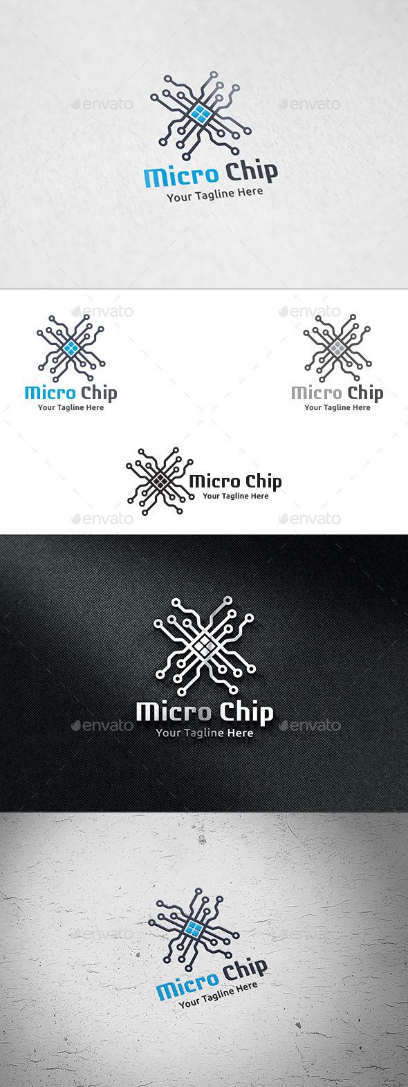 GraphicRiver Micro Chip Logo Template 9001532