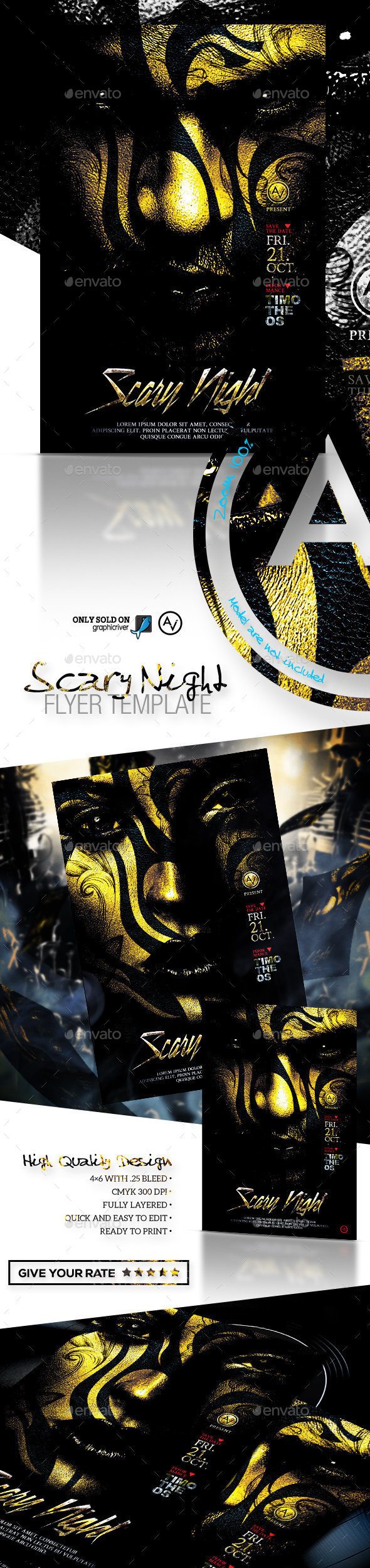 Scary Template Stationery and Design Templates