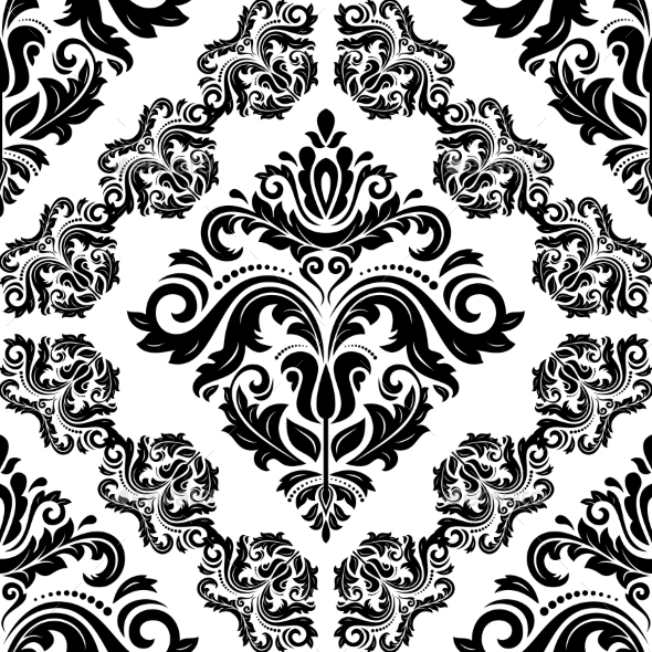 GraphicRiver Damask Seamless Vector Pattern Orient Background 9002082