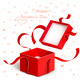 Open Gift Box with Red Ribbon Torn - GraphicRiver Item for Sale