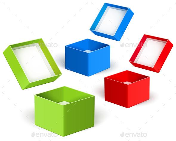 GraphicRiver Open Color Boxes 9002491