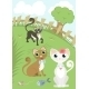 Cats in a Meadow - GraphicRiver Item for Sale