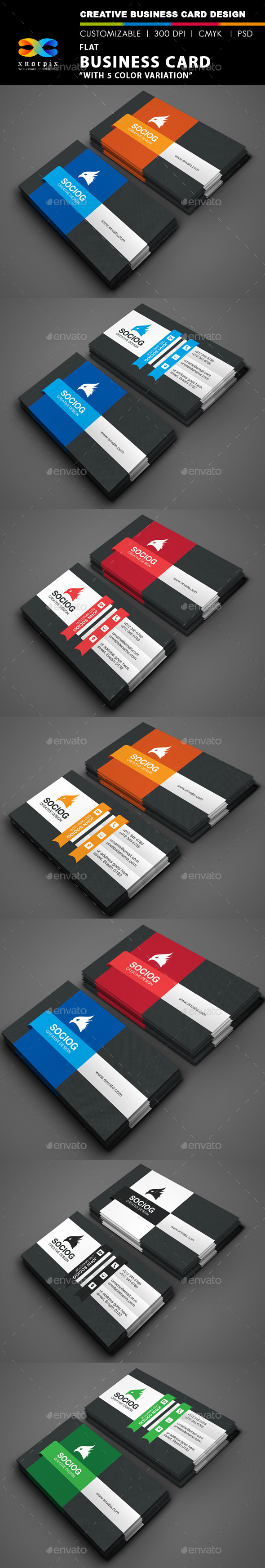 GraphicRiver Flat Business Card 9002635