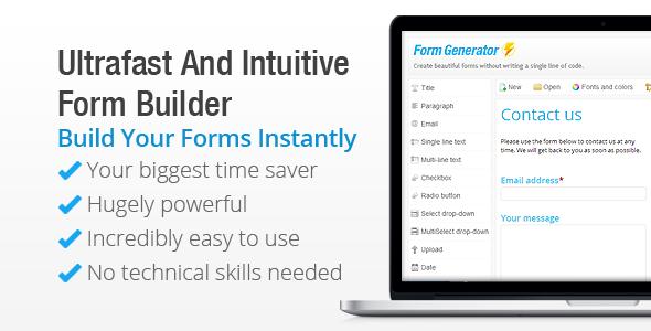 Form Generator - WordPress Form Builder - CodeCanyon Item for Sale