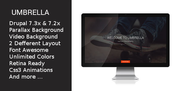 ThemeForest Umbrella One Page Drupal Theme 8991426