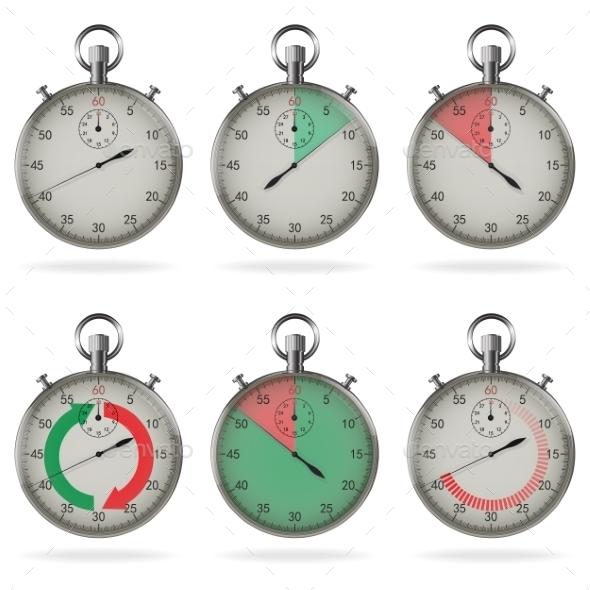 GraphicRiver Stopwatch Set 9002680