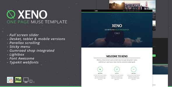 ThemeForest Xeno One Page Muse Template 9002739