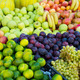 Variety of fresh organic fruits on the street stall - PhotoDune Item for Sale