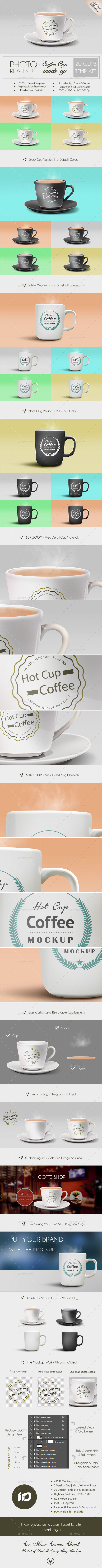 GraphicRiver Coffee Cup Mug Mockup Photorealistic 9004041