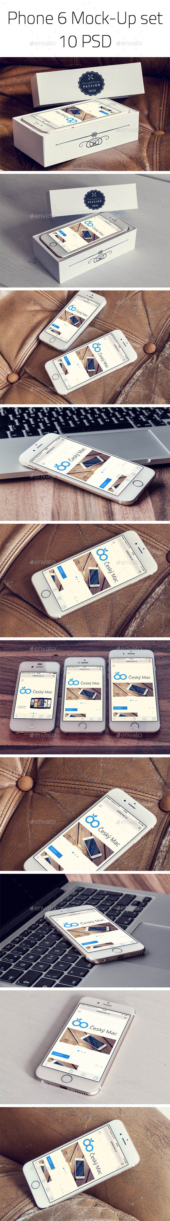 GraphicRiver Phone 6 Photorealistic Mock-Up set 9004315