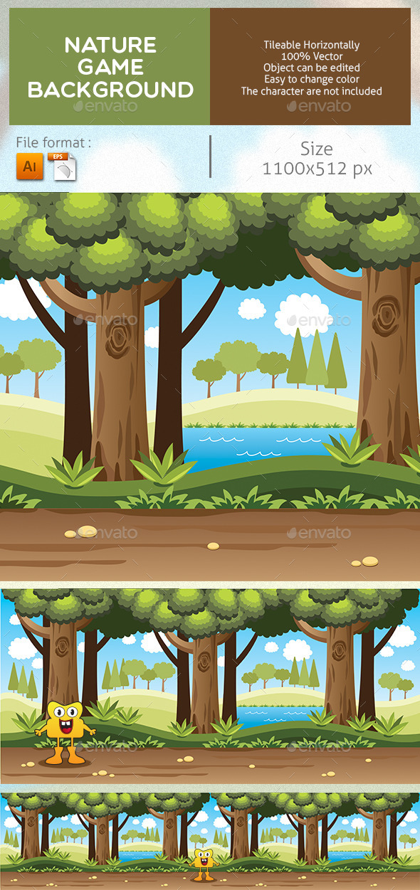 GraphicRiver Nature Game Background 9004622
