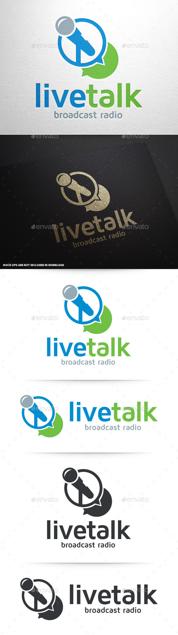 GraphicRiver Live Talk Logo Template 9004677