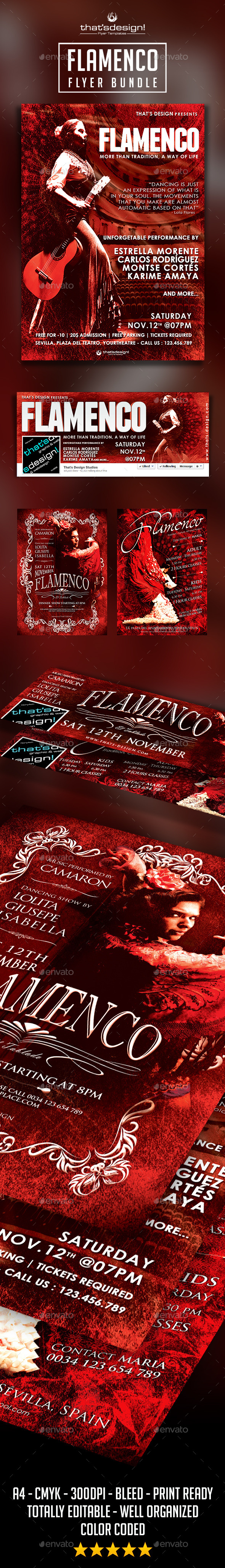Flamenco Flyer Bundle - Events Flyers