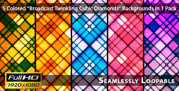 Broadcast Twinkling Cubic Diamonds Pack 01