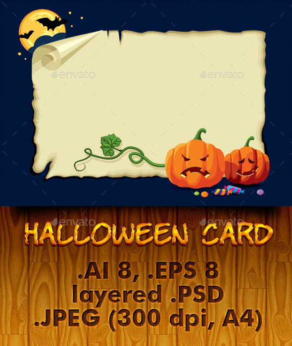 GraphicRiver Halloween Card 5620966