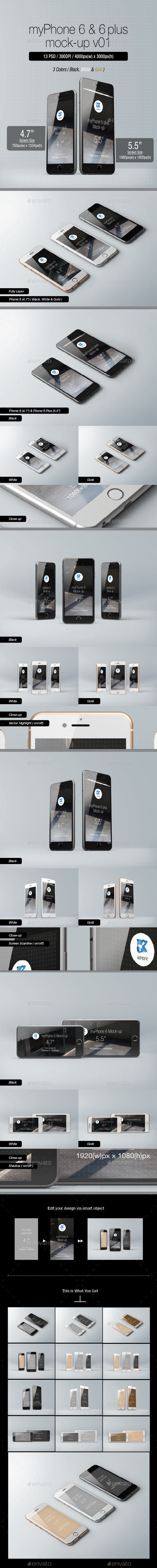 GraphicRiver myPhone 6 Mock-up v01 9005552