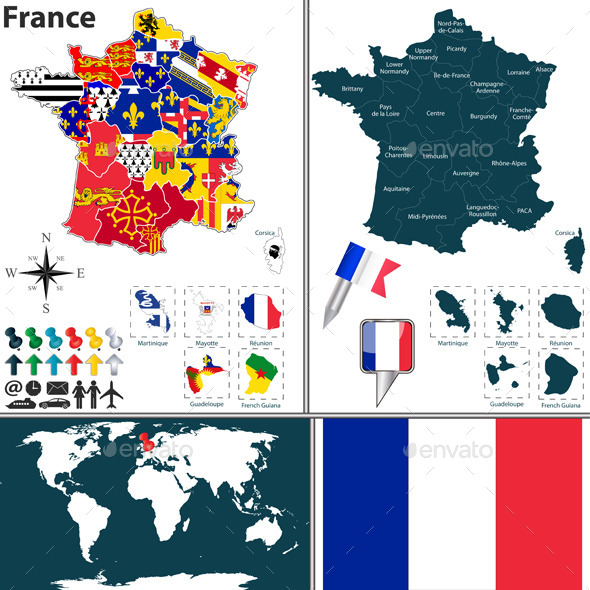 GraphicRiver Map of France 9005570