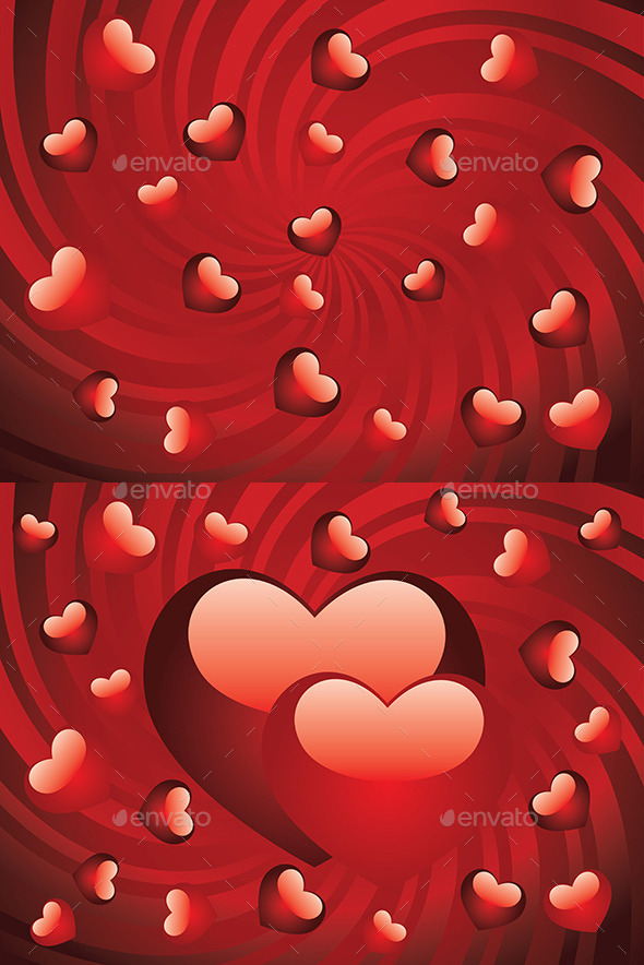 GraphicRiver Glossy Red Hearts 9005571
