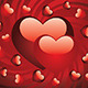 Glossy Red Hearts - GraphicRiver Item for Sale