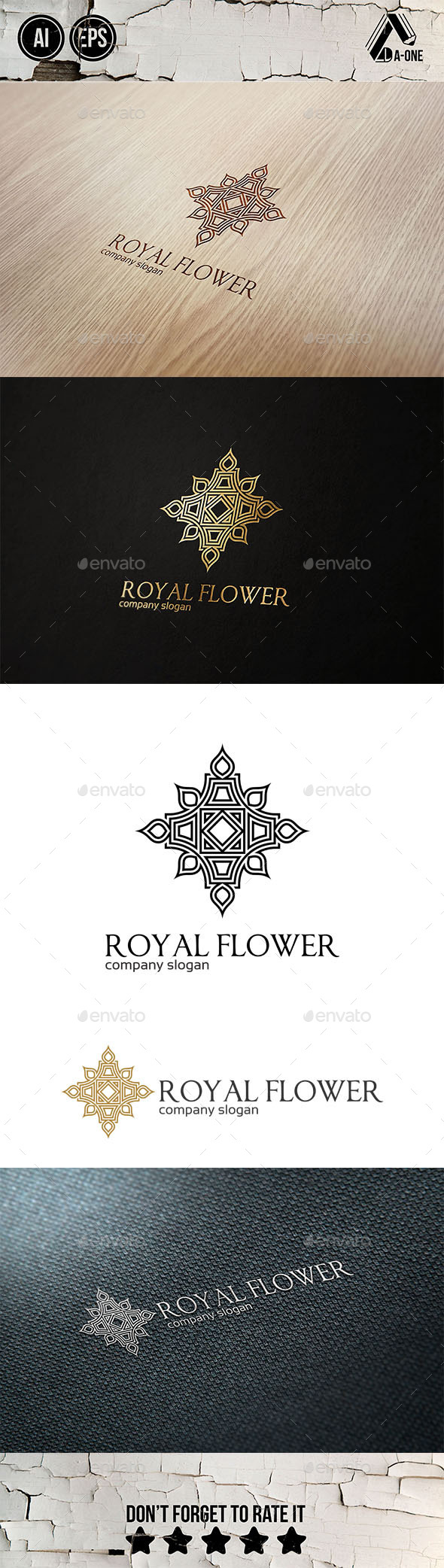 GraphicRiver Royal Flower Logo 9005578