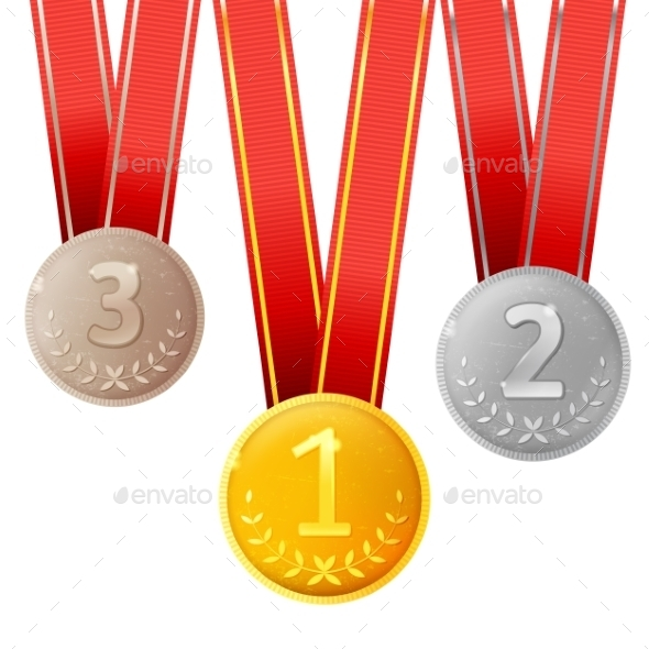 GraphicRiver Golden Silver and Bronze Medals 9005601