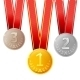 Golden, Silver and Bronze Medals - GraphicRiver Item for Sale