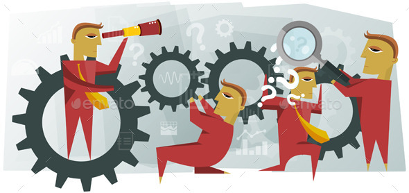 GraphicRiver Teamwork Illustration 9005856