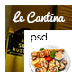 Le Cantina Restaurant PSD  - ThemeForest Item for Sale