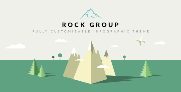 ThemeForest Rock Group Multipurpose Infographic Theme 9005879
