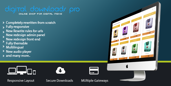 Digital Downloads Pro - CodeCanyon Item for Sale