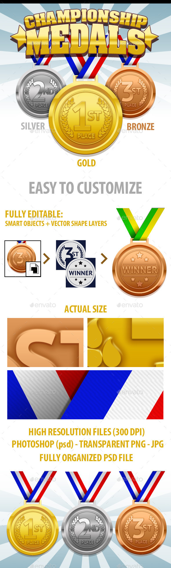 GraphicRiver Championship Medals 9006653