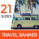 Travel & Vacation Web Ad Marketing Banners - GraphicRiver Item for Sale
