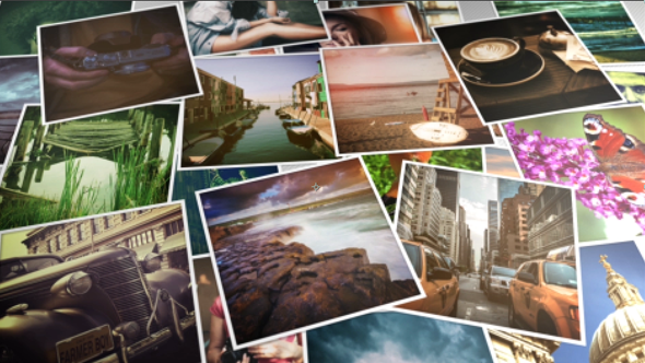 Falling Photos Slideshow
